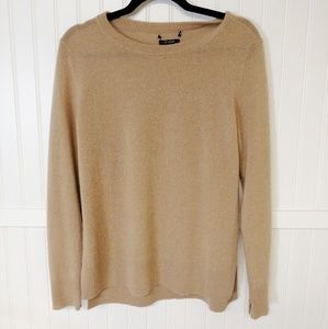 Nordstrom Camel 100% Cashmere Sweater